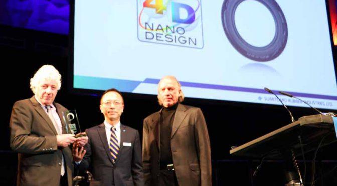 住友ゴム工業の新材料開発技術「アドバンス 4D ナノ デザイン」が欧州の技術アワードを受賞