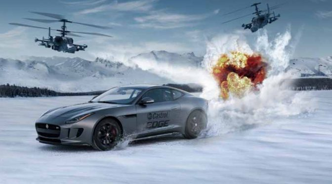 カストロール、映画「ワイルド・スピードICE BREAK」と提携し氷上ドライビング映像を披露