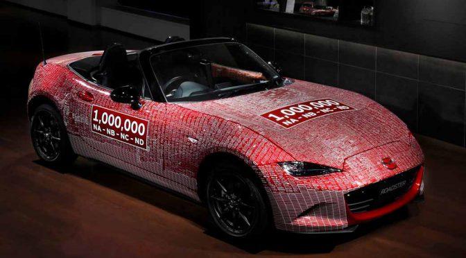 マツダ、ロードスターの生産100万台達成記念車が世界巡回を経て本社帰還