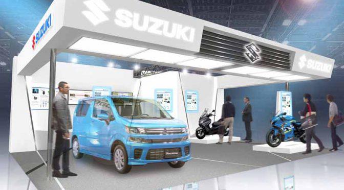 スズキ、人とくるまのテクノロジー展2017に出展。ハイブリッド自動車や燃料電池二輪車等を展示