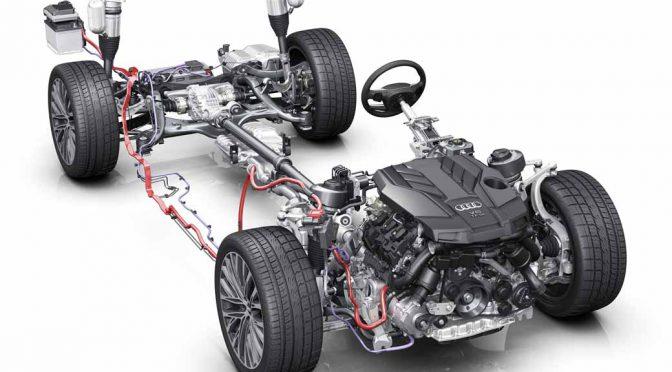 新型Audi A8は、48Vフルアクティブサスペンション搭載に