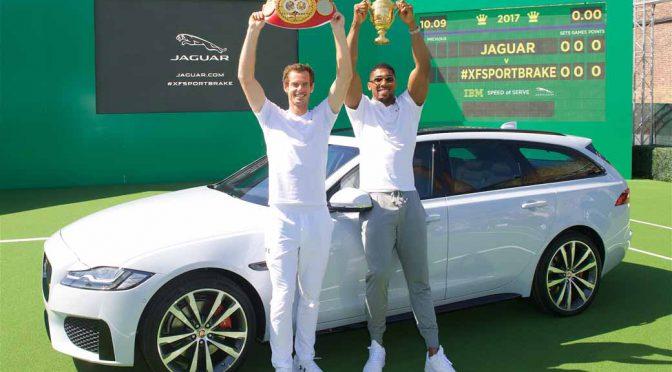 新型ジャガーXFスポーツブレイクをプロテニスのマレー選手が紹介