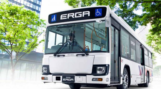 いすゞ、大型路線バス「エルガ」を改良し8/8発売