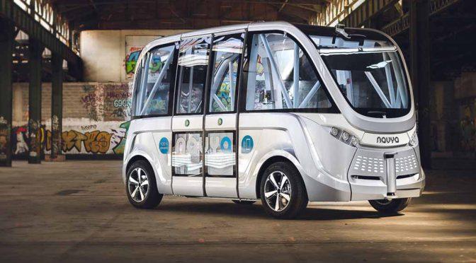 SBドライブ、自動運転バス調査委員会の実証実験で仏製車両を日本初提供へ