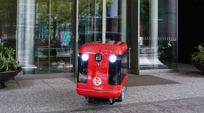ZMP、歩道の自動走行を目指す寿司宅配ロボットを発表