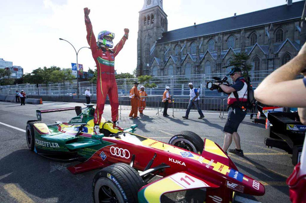 アウディのルーカス ディ グラッシ。フォーミュラE選手権のチャンピオンに輝く