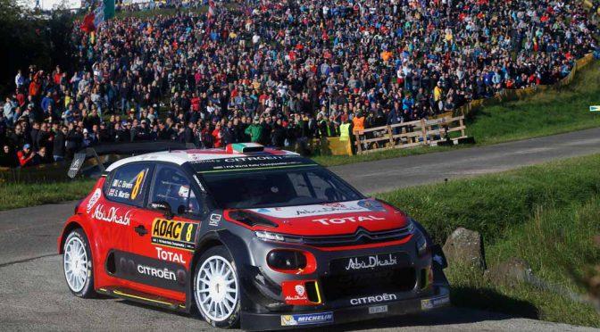 WRC第10戦ドイツで、シトロエンのミケルセンが総合2位を獲得