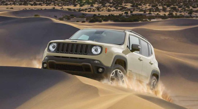 Jeep「レネゲード・トレイルホーク」に特別色モハベサンドカラーを設定