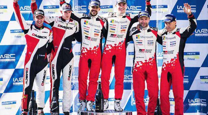 WRC第9戦ラリー・フィンランド、トヨタ陣営のラッピ初優勝。ハンニネンも3位初入賞