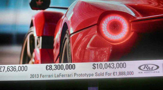 フェラーリ、サザビーズの競売収益830万ユーロを「セーブ・ザ・チルドレン」へ寄付