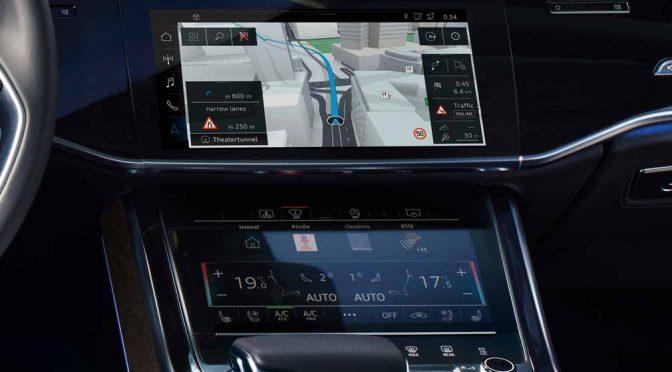 HERE、最新技術をIAAで発表。アウディA8の走行経路ガイドで位置測位技術を磨く