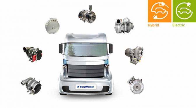 ボルグワーナー、自社の電動化技術を商用車に適用へ
