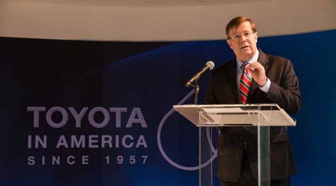 トヨタ自動車、米国事業60周年記念式典を実施。テキサス州プレイノ市のTMNA本社で