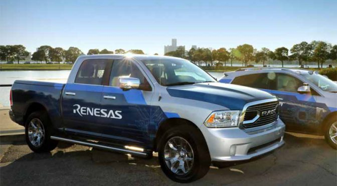 ルネサス、CES2018でADAS・自動運転・新コクピットのデモカーを出展