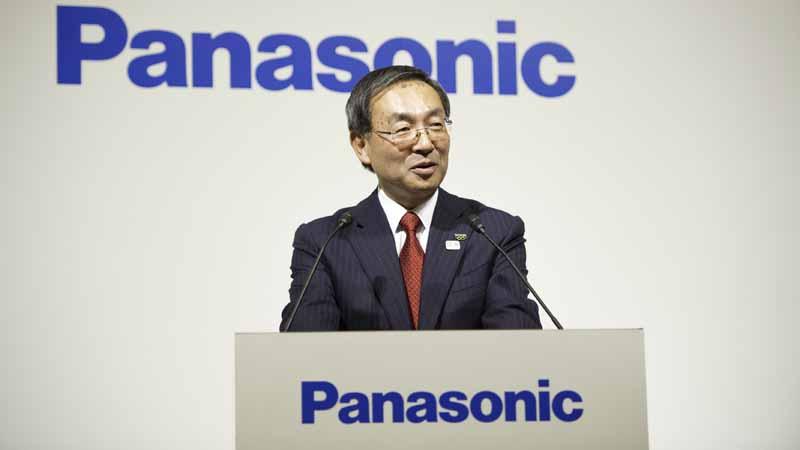 写真は、パナソニック株式会社、津賀一宏社長