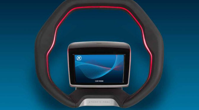 ZF、自動運転に対応したステアリングホイールのコンセプトモデルを開発