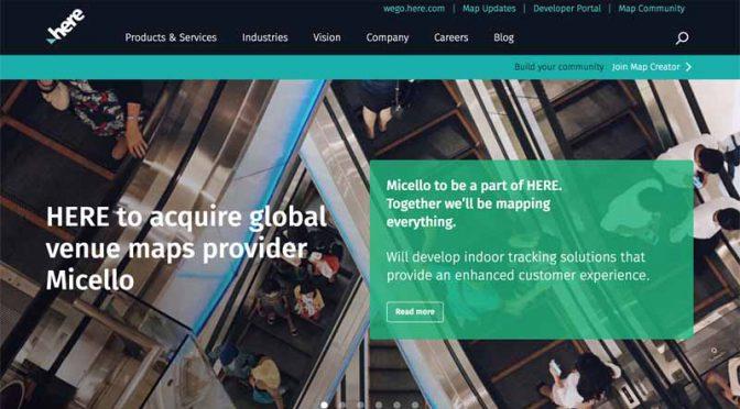 位置情報サービスのHERE、屋内地図提供の米企業マイセロを買収