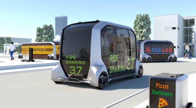 トヨタ自動車、多目的電動モビリティのイーパレットコンセプトをCESで発表