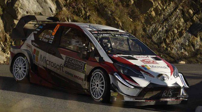 トヨタ・ヤリス、WRC初戦のモンテカルロでタナックが総合2位