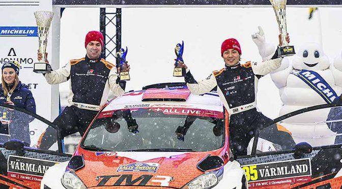 WRC第2戦スウェーデン、勝田・サルミネン組がWRC2部門で初優勝