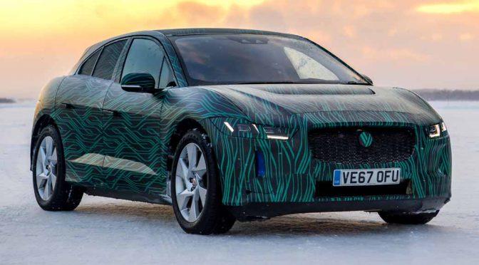 ジャガー初の電動SUV「I-PACE」、極寒下の走行動画を公開