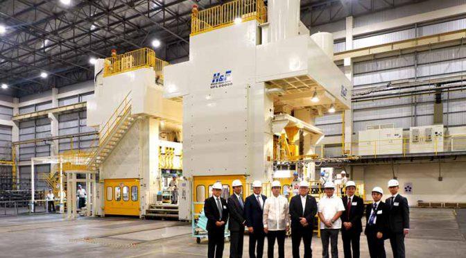 三菱自動車工業、フィリピンで新プレス工場操業開始。当地でミラージュの生産拡大を図る