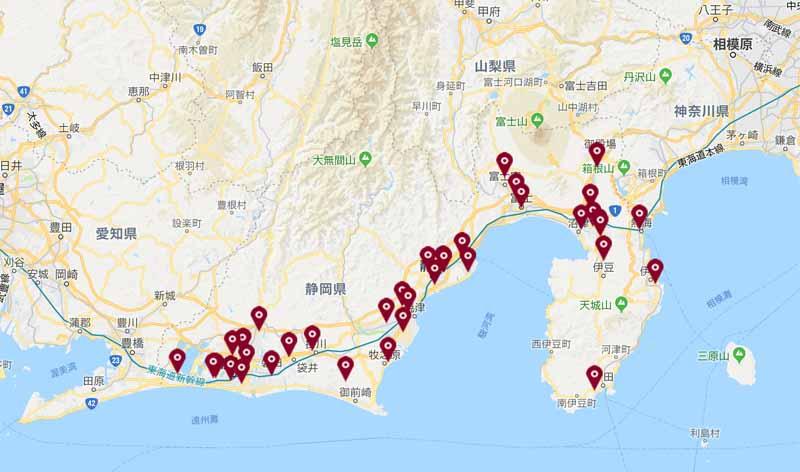 静岡トヨタの店舗網