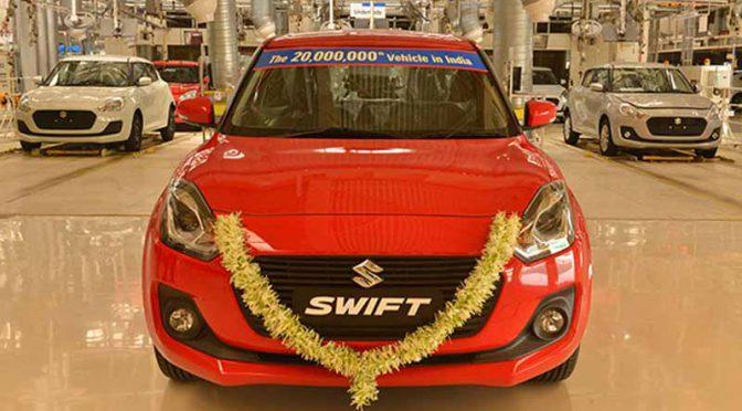 スズキ、インドで四輪車生産累計2,000万台達成