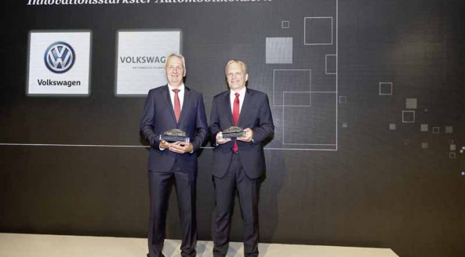 VW乗用車ブランド、独の自動車技術賞でアワードを獲得