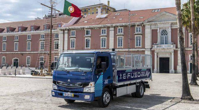 三菱ふそう、量産EVトラックのeキャンターをリスボン市へ納入
