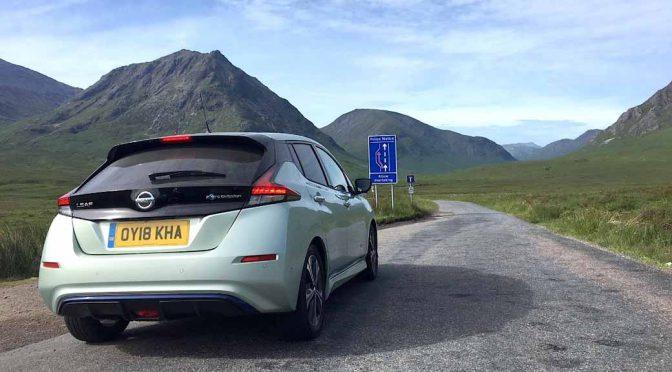 日産自動車のEV・リーフ、英国連山の走破に挑戦