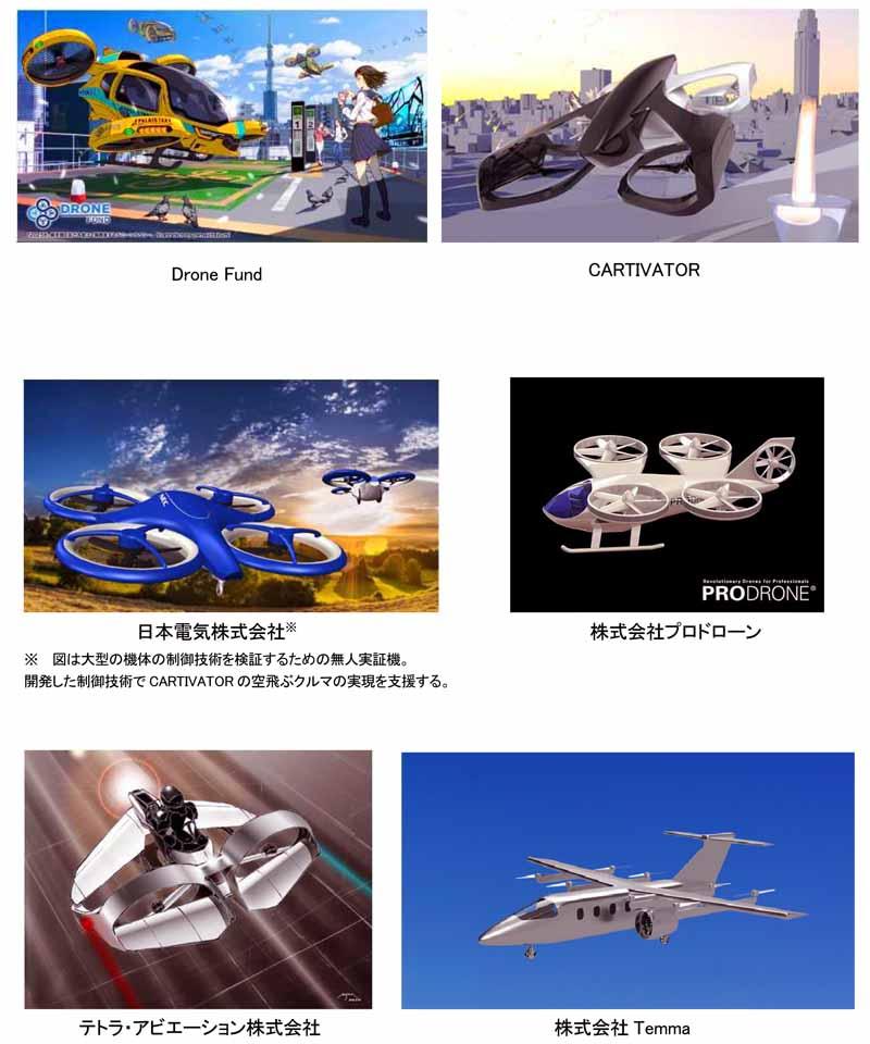 """上の掲載画像は、日本国内で構想・研究開発が進められている""""空飛ぶクルマ""""の研究・実証開発例"""