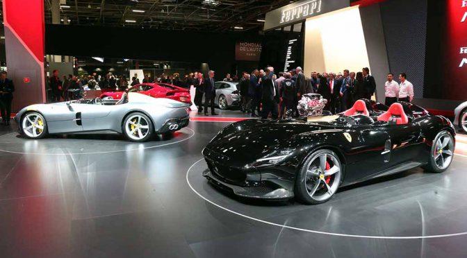 フェラーリ、パリショーでMonza SP1 & SP2を披露