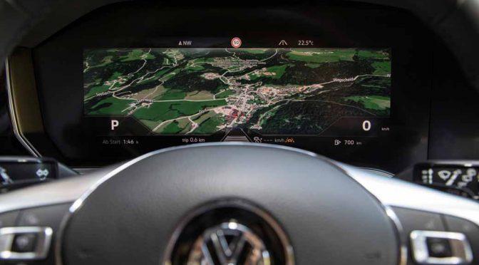 ボッシュ、量産初の曲面メーターパネルが新型VWに搭載