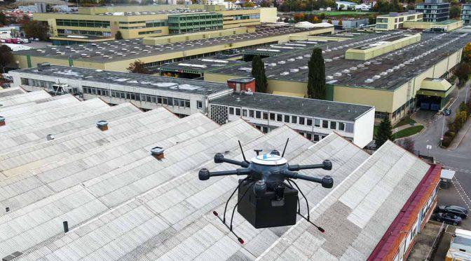 ZF、ドイツ初の工場敷地内ドローン輸送を実施