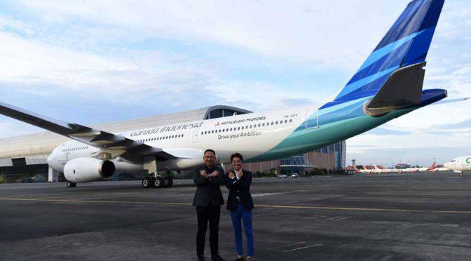 三菱自動車工業、ガルーダ・インドネシア航空とコラボ