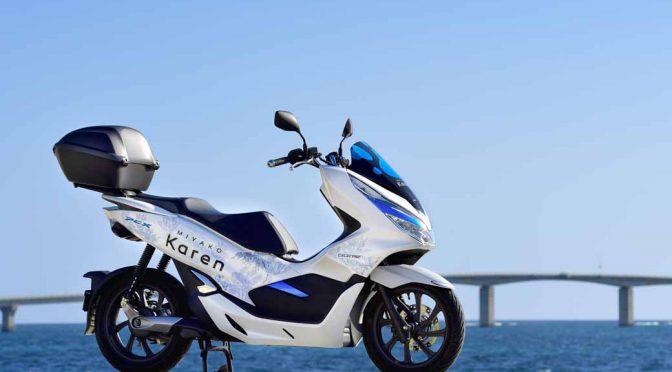 ホンダとソフトバンク、宮古島でEVバイクレンタルを開始