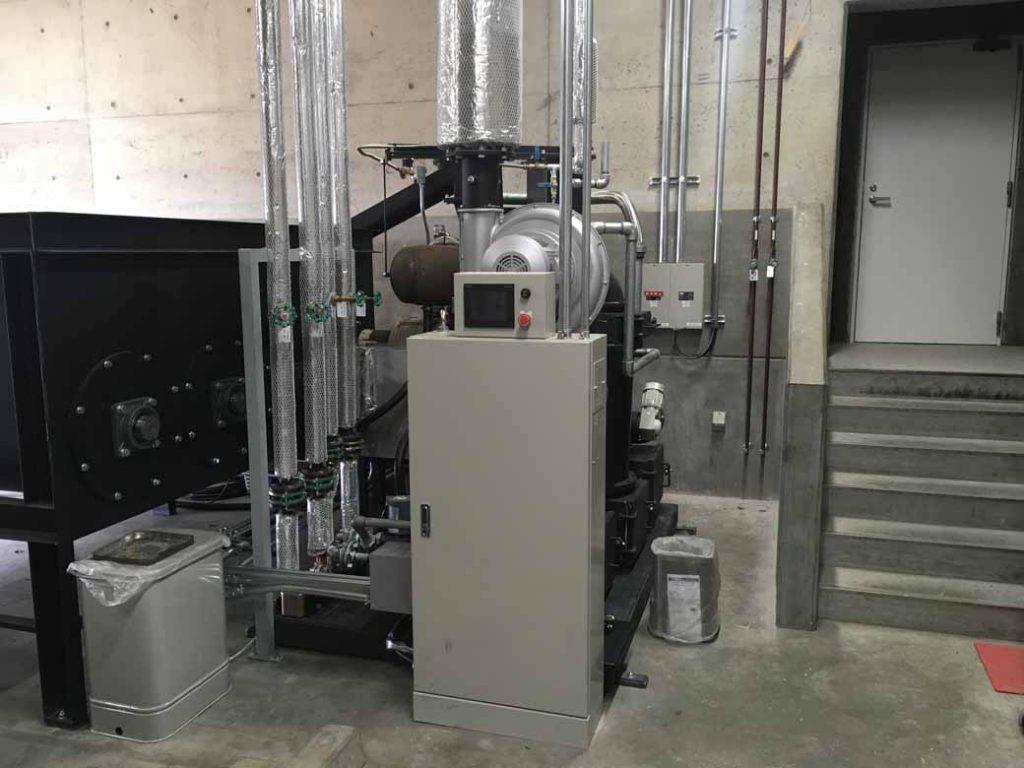 2019年2月に設置されたバイオマス発電装置。