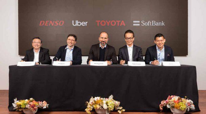 トヨタ・ソフトバンク連合、自動運転でウーバーへ10億ドル出資