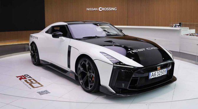 日産、GT-R50 by Italdesignテスト車をNISSAN CROSSINGに展示