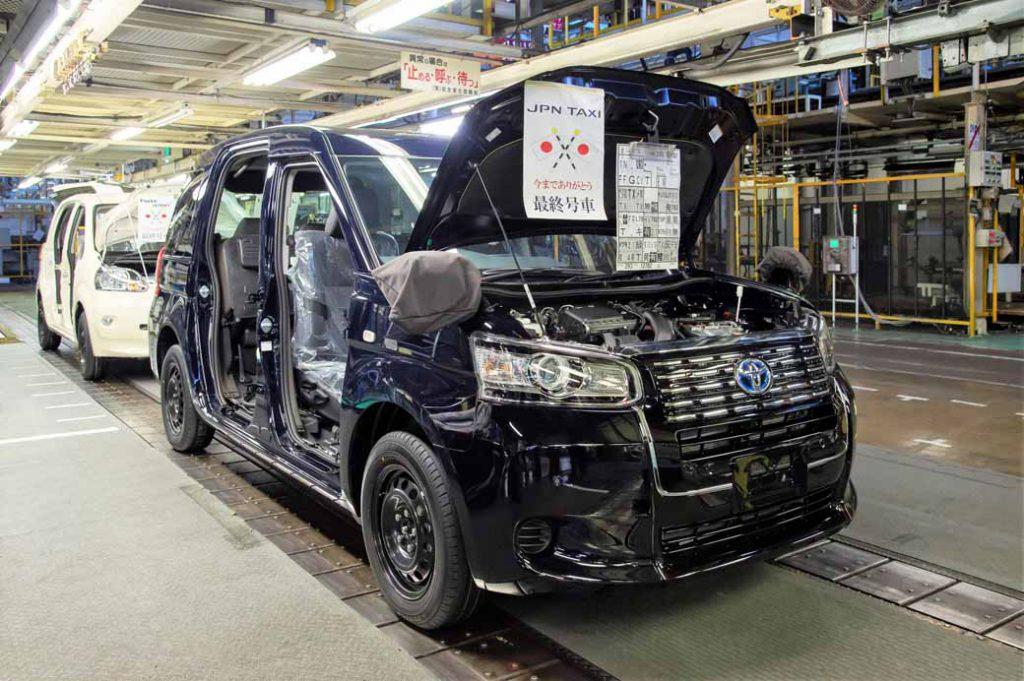 東富士工場で生産する最後のクルマとなったJPNタクシー